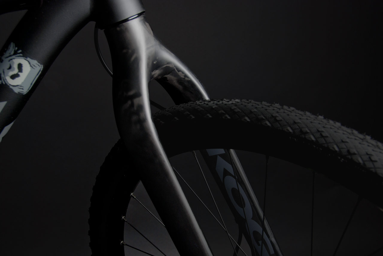 Full carbon fixed fork