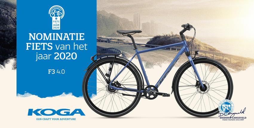 KOGA F3 4.0 genomineerd als fiets van het jaar 2020