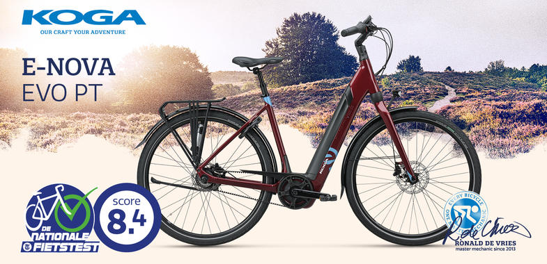 Hoge score in de Telegraaf E-biketest