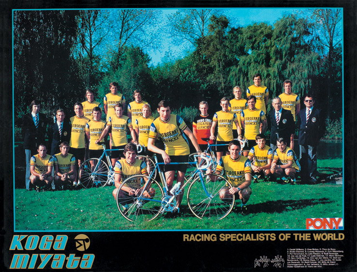 """Sponsoring des Rennrad-Teams """"IJsboerke"""""""