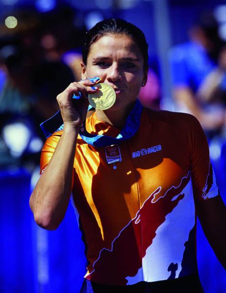 Leontien van Moorsel 3 médailles d'or